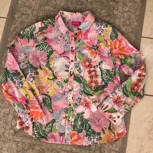 Lilly Pulitzer for Target Button Down Nosie Posey